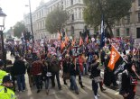 Anti-cuts marchers filing past Whitehall (Pic: Becky Lopez)