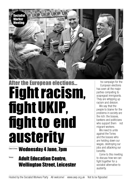 Leicester SWP public meeting