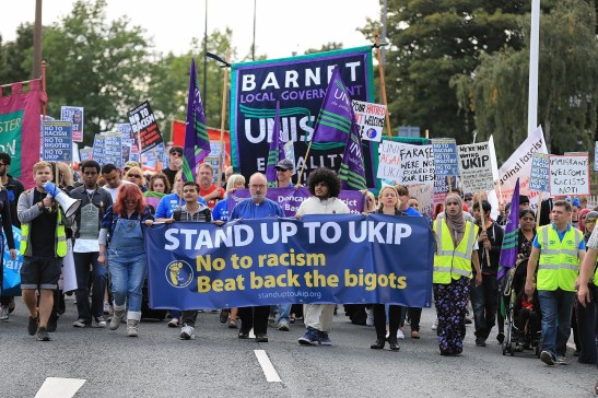 Anti-racists demonstrate against UKIP